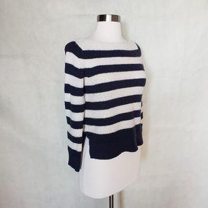 GAP Sweaters - 🌼{ gap } striped wool blend boat neck sweater